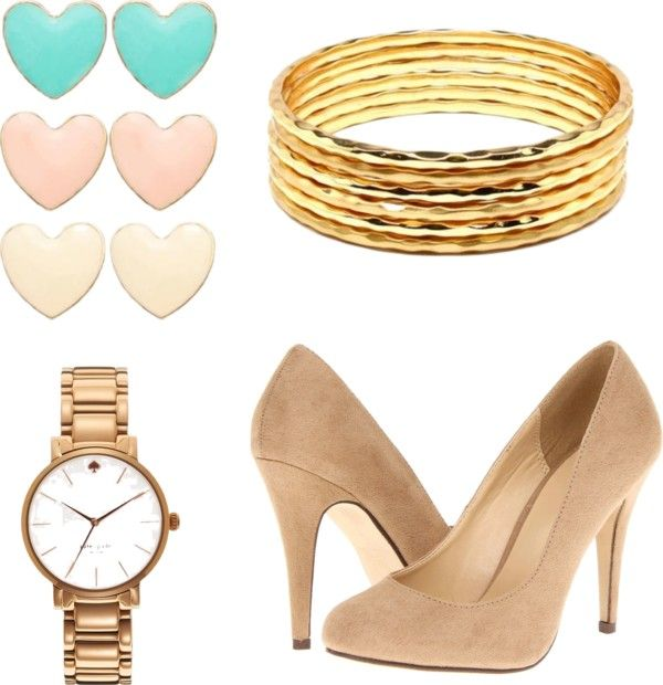 """""""Girly with www.shopmadisonclothing.com pink blouse"""" by nmattison on Polyvore"""