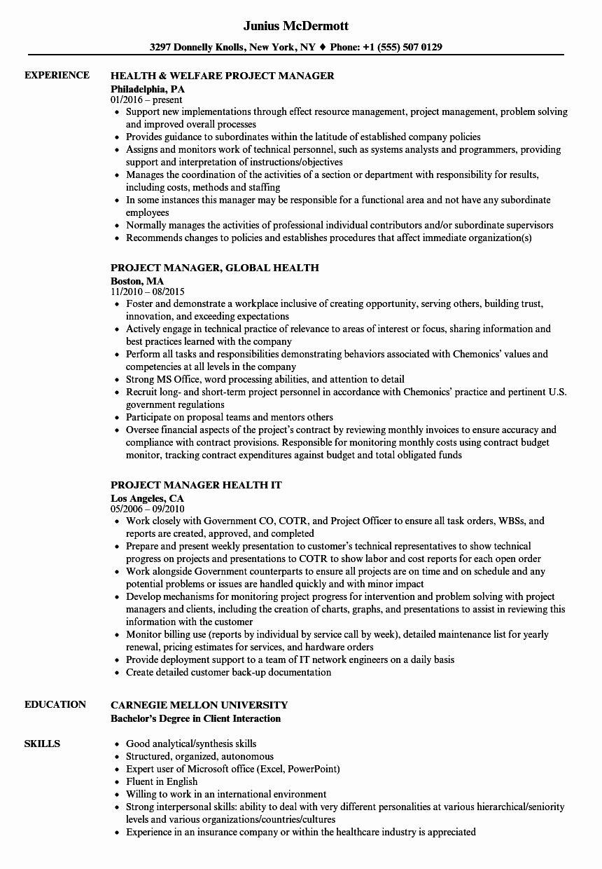 20 Project Management Job Description Resume (With images