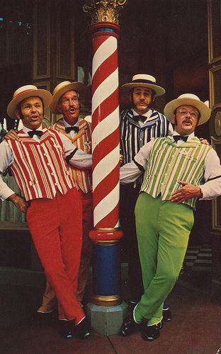 924be5cc71c The Dapper Dans in front of the barbae shop. postcard- Disney World