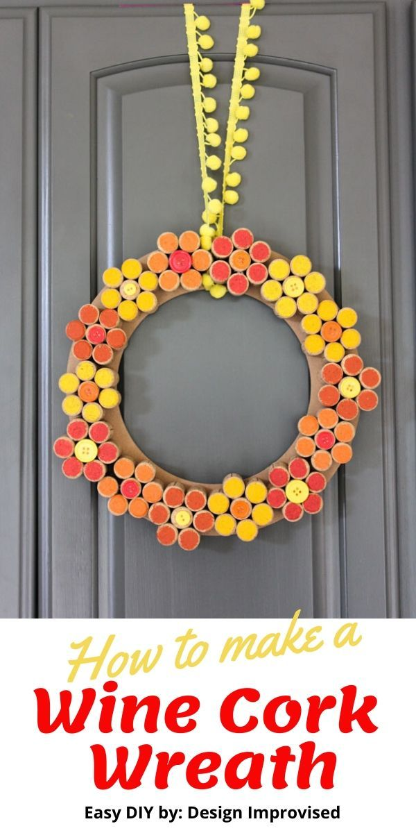 Photo of How to make a wine cork flower wreath