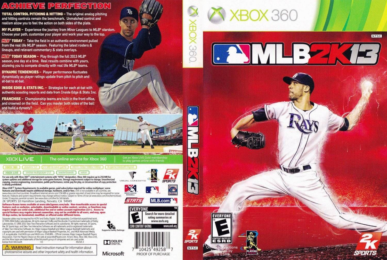 Mlb Major League Baseball 2k13 Xbox 360 Xbox Major League Baseball Xbox 360