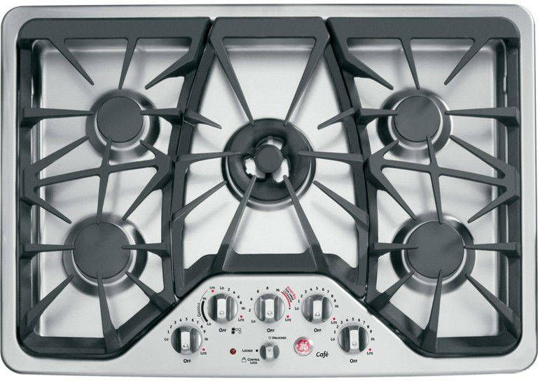General Electric Cgp350setss Ge Cafe Series 30 Gas Cooktop Cooktop Gas Range Double Oven