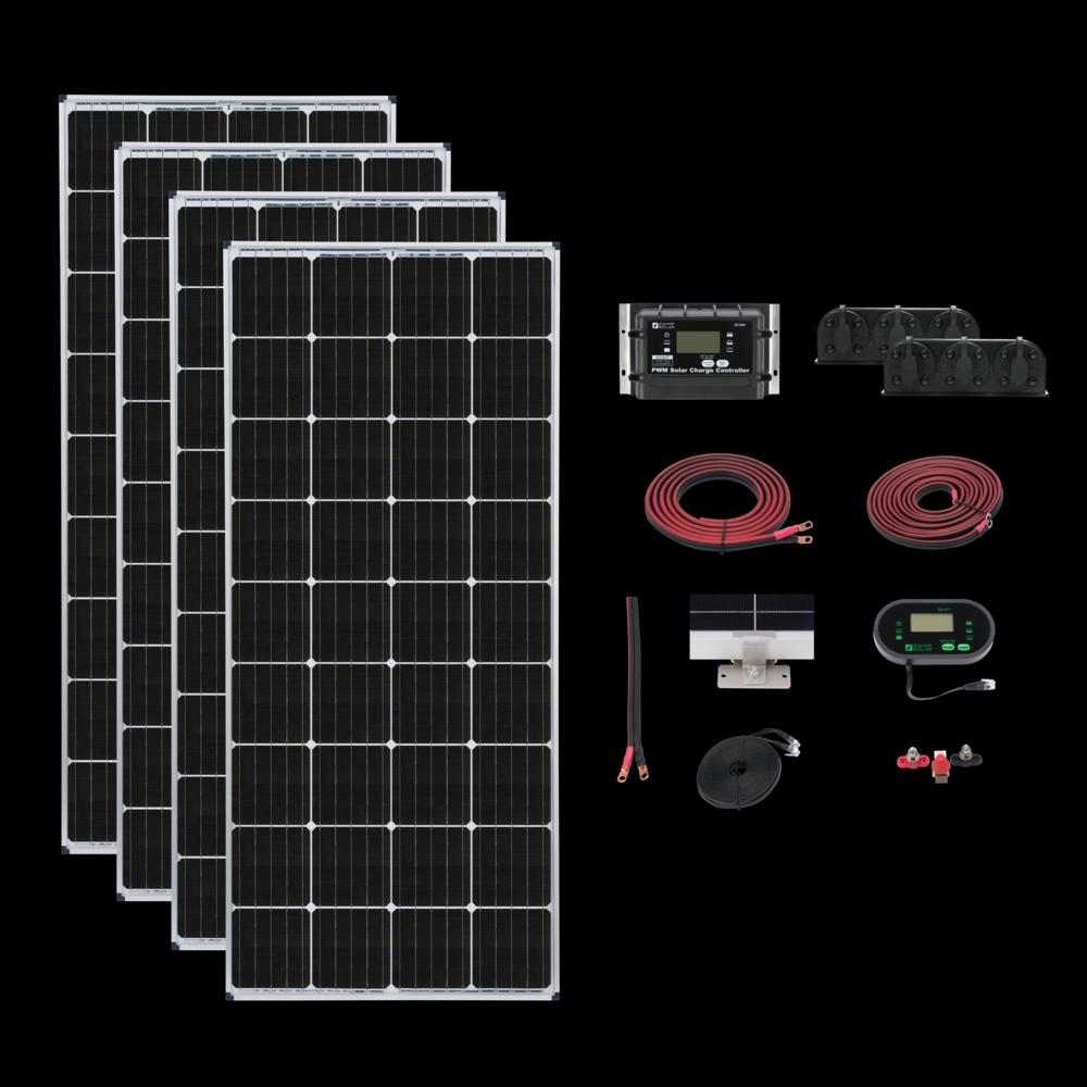 Zamp Deluxe Roof Mount Solar Panel Kits Solar Panels Solar Kit Solar Technology