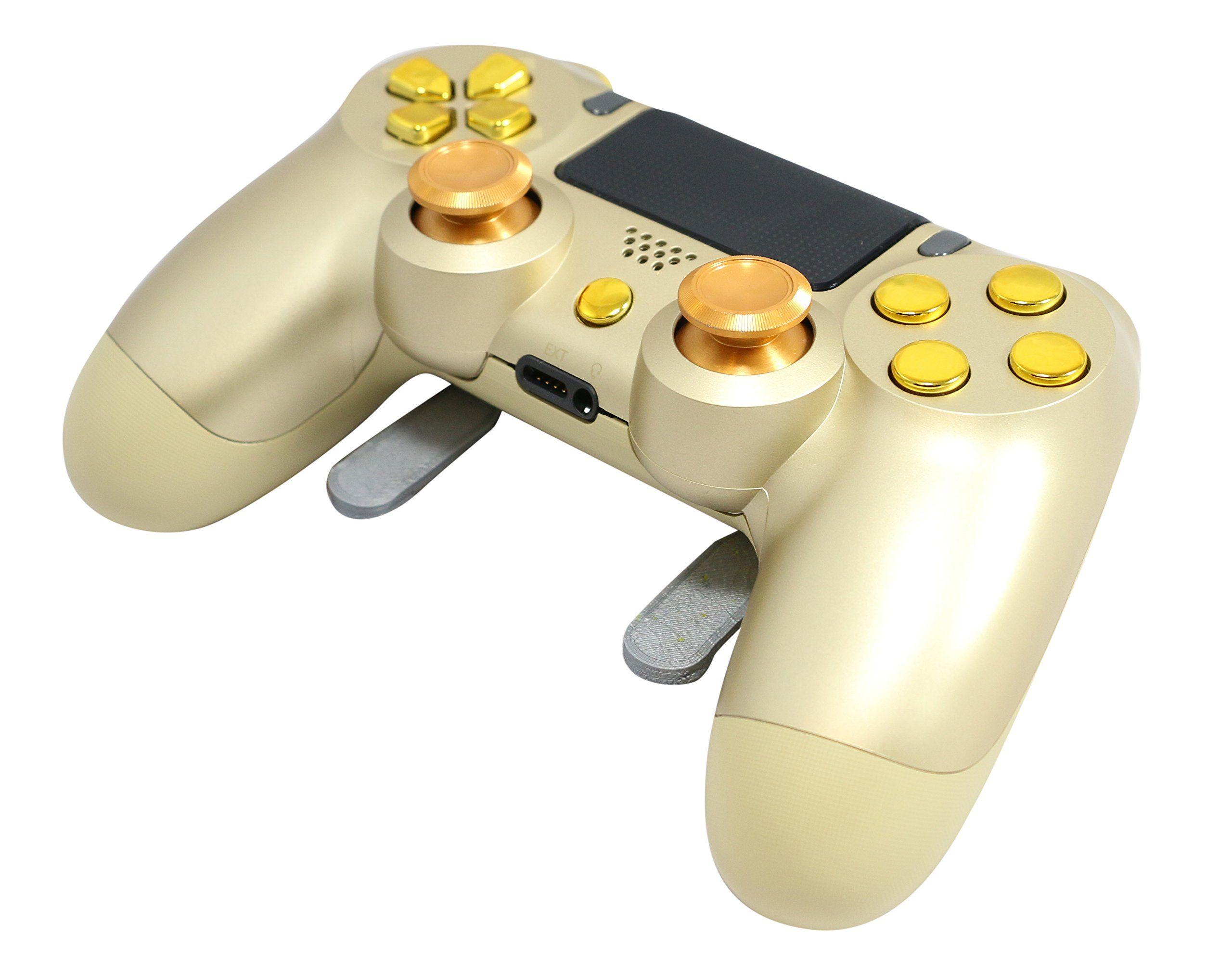 Gold/Chrome Gold PS4 Elite Controller Custom Paddles Trigger