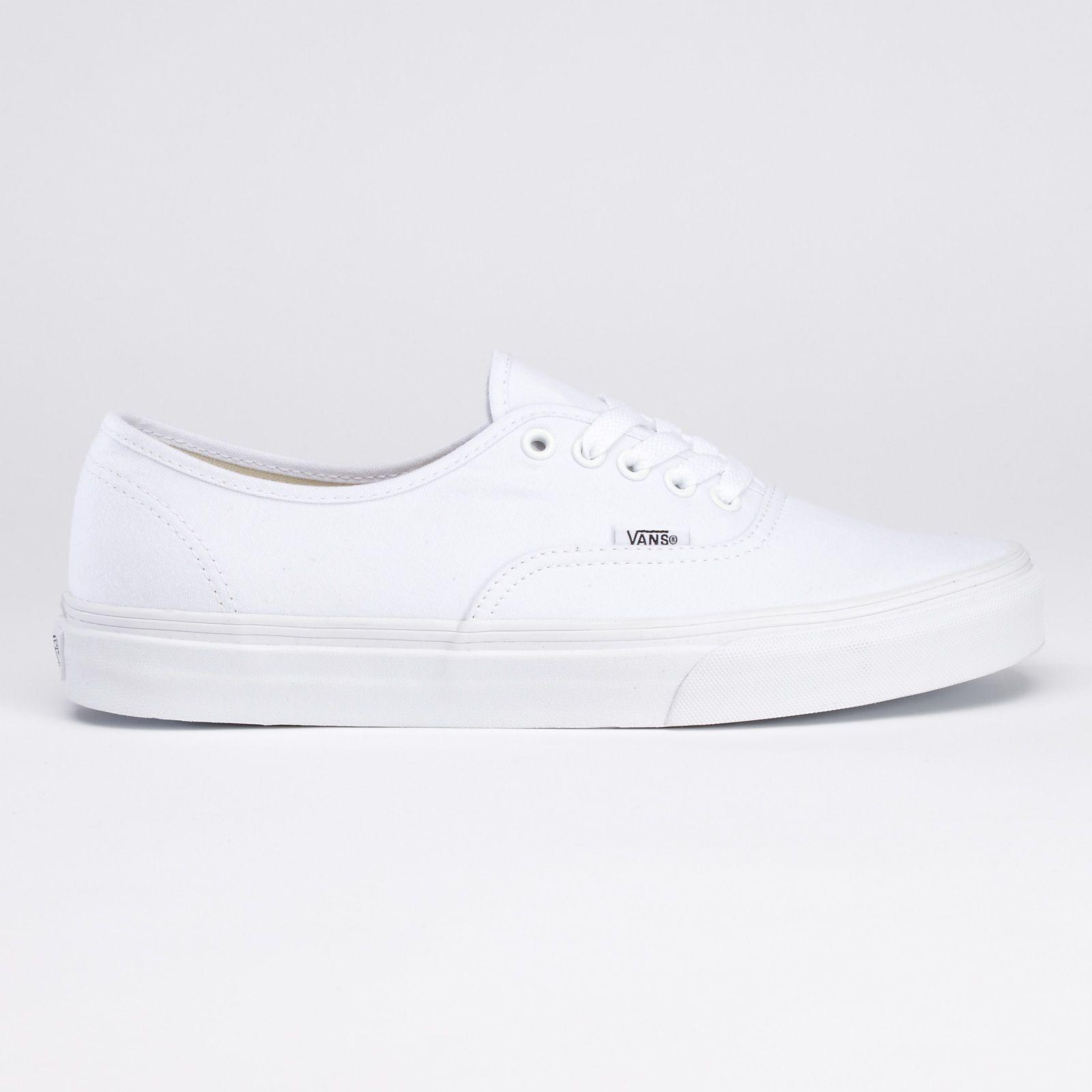 plain white vans shoes