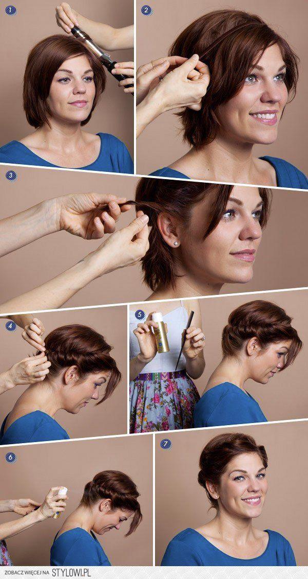 uppsättning kort hår steg för steg