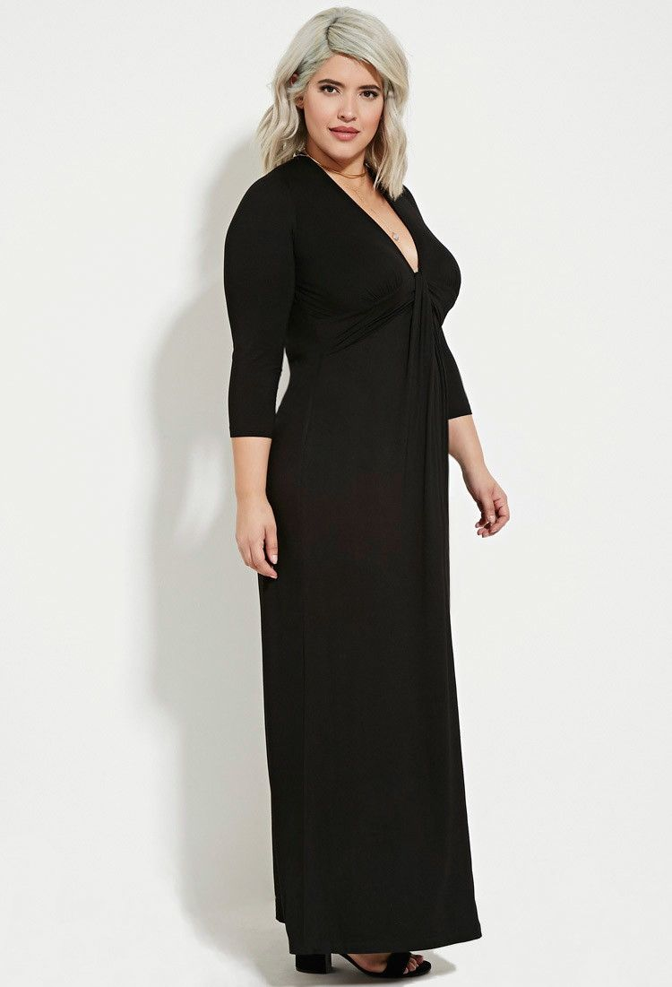 Plus size twisted front maxi dress forever plus