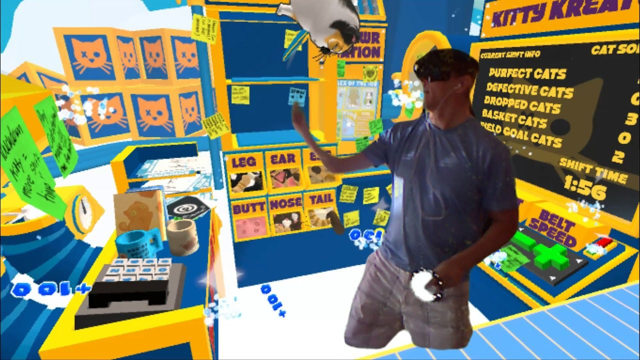 Mixed Reality Cat Sorter VR with Kinect Green Screen and WMR