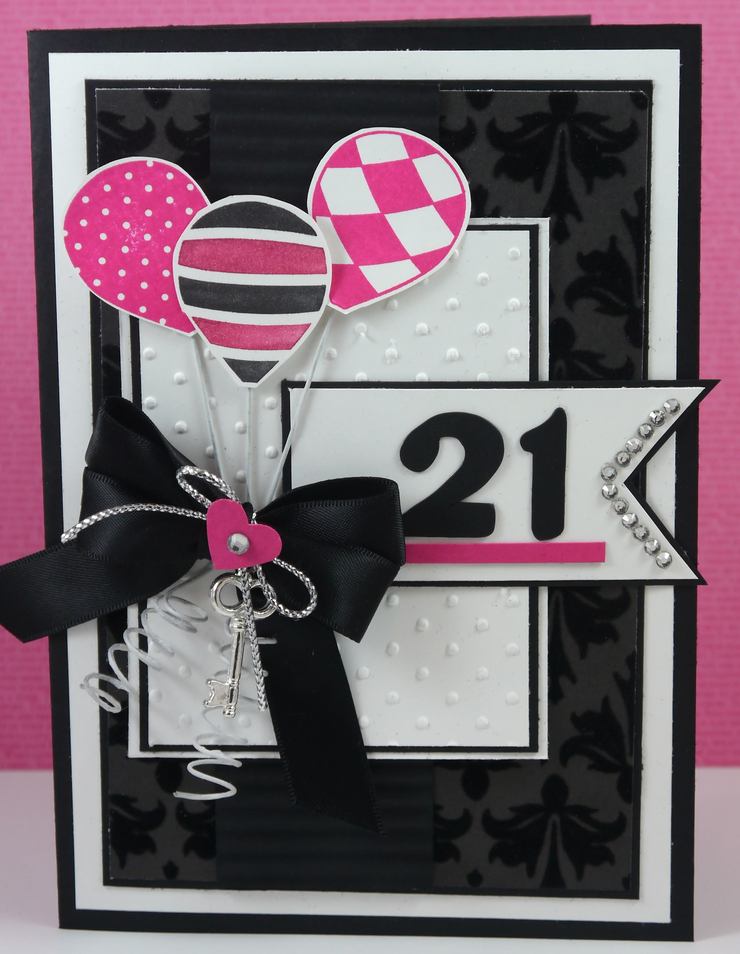 Awesome 21st card A change of colours and numbers would make this – 21 Birthday Card