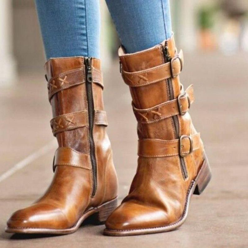 8eccb811ff2 Comfortable Square Heel Women s Boots in 2019