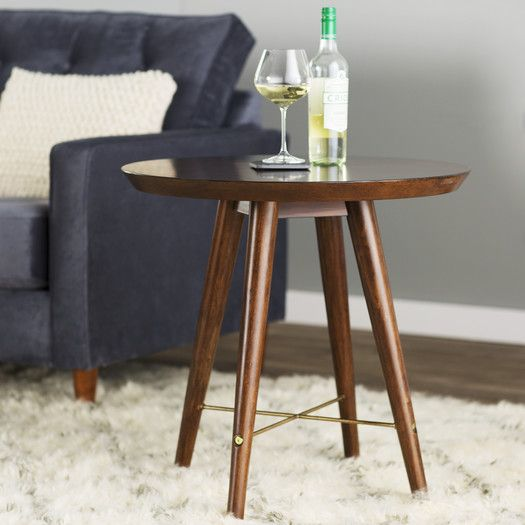 Corrigan Studio Cushendall End Table End Tables Round End Tables Modern Accent Tables