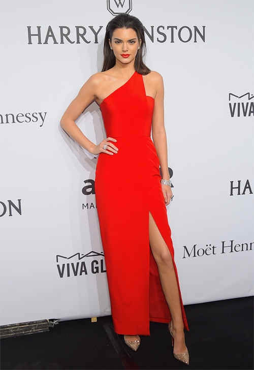 Kendall Jenner attends the 2015 amfAR New York Gala at Cipriani Wall Street on February 11, 2015 in New York City.