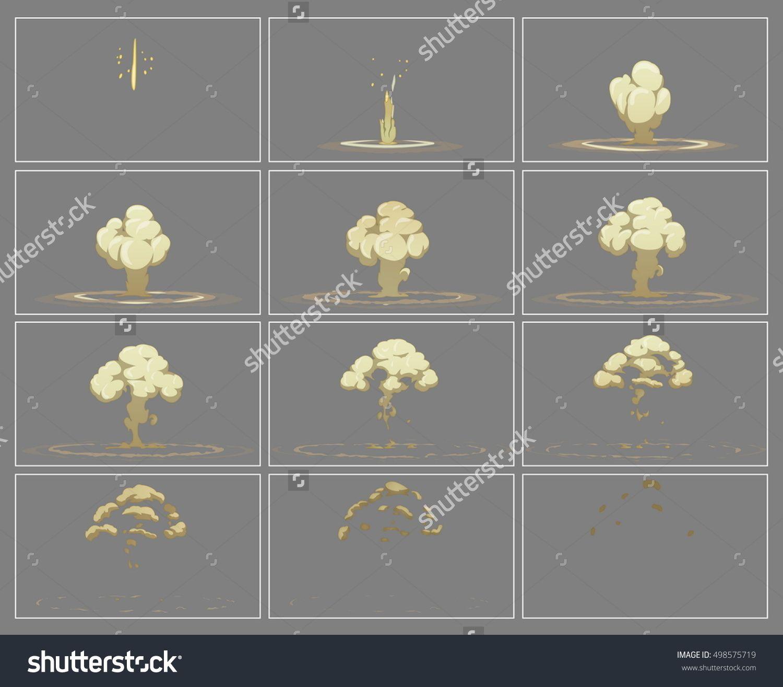 Fog vertical explosion special effect fx animation frames sprite ...