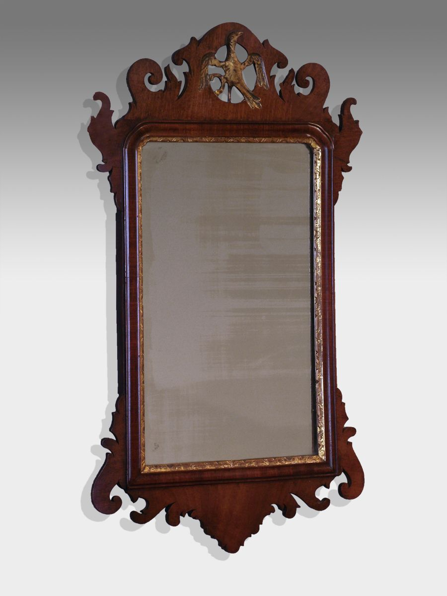 Antique fret wall mirror