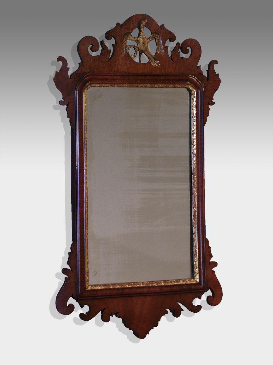 Antique Wall Mirrors georgian mahogany antique fret wall mirror | house | pinterest