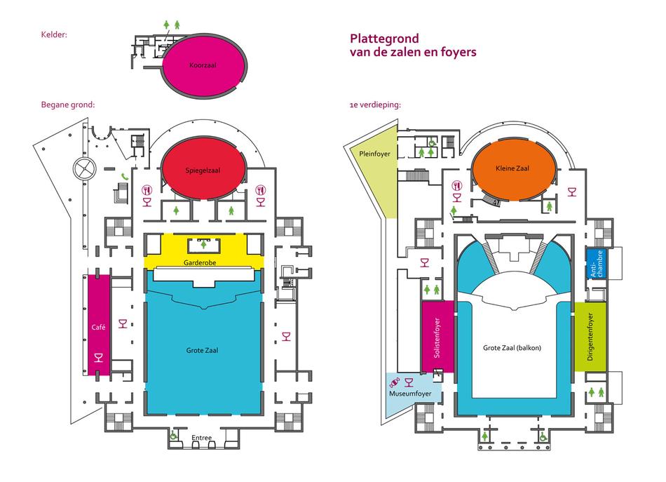 een plattegrond van het concertgebouw