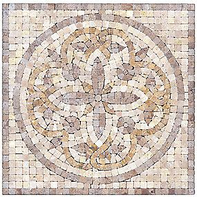 Decorative Travertine Tile Camden Travertine Deco 12 X 12 In#thetileshop  Tile Decorative
