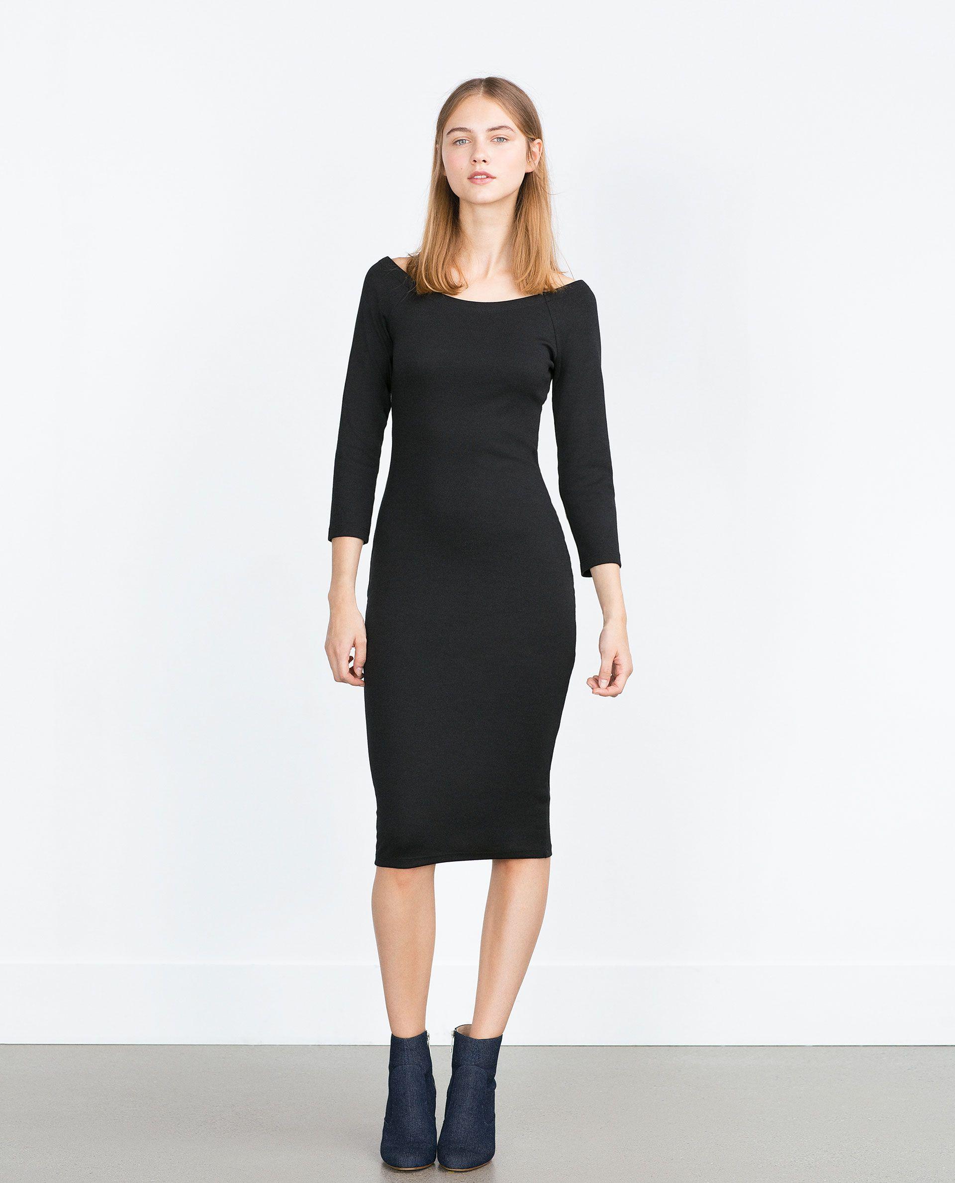 Zara kobieta sukienka oŁÓwkowa dress pinterest bandeau