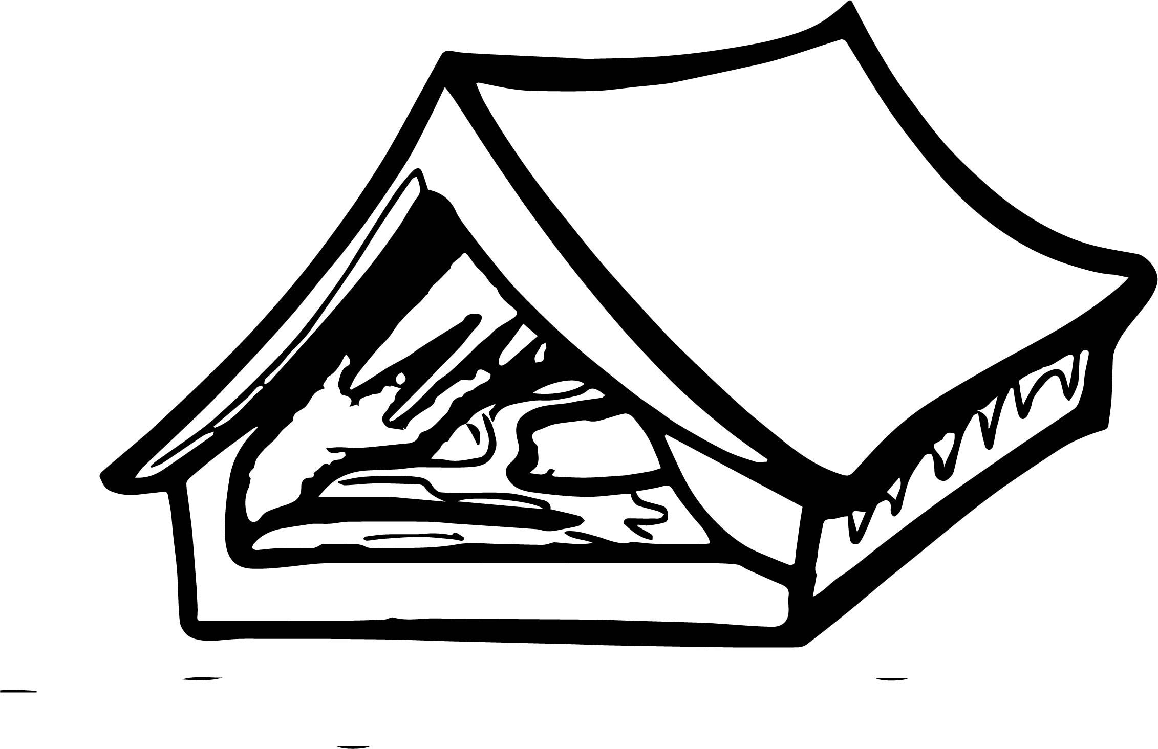 Tent Med Camping Coloring Page Cool Tents Tent Camping