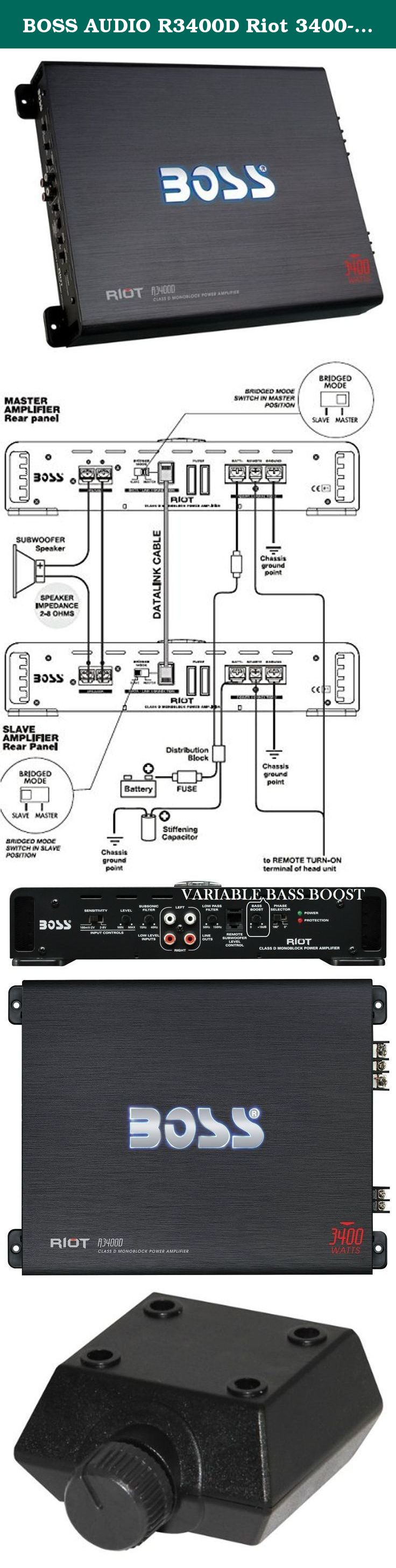 Boss Audio R3400d Riot 3400 Watt Monoblock Class D Mono Wiring Diagram For 12 4 Ohm Subwoofer 1 To 8 Stable