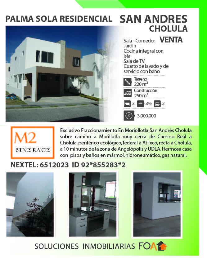 Hermosa Casa En Palma Sola Residencial Morillotla San Andres