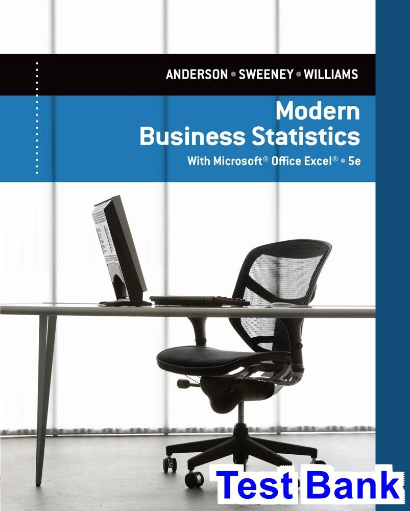 modern business statistics with microsoft excel 5th edition anderson rh pinterest com Essentials of Modern Business Statistics Essentials of Modern Business Statistics