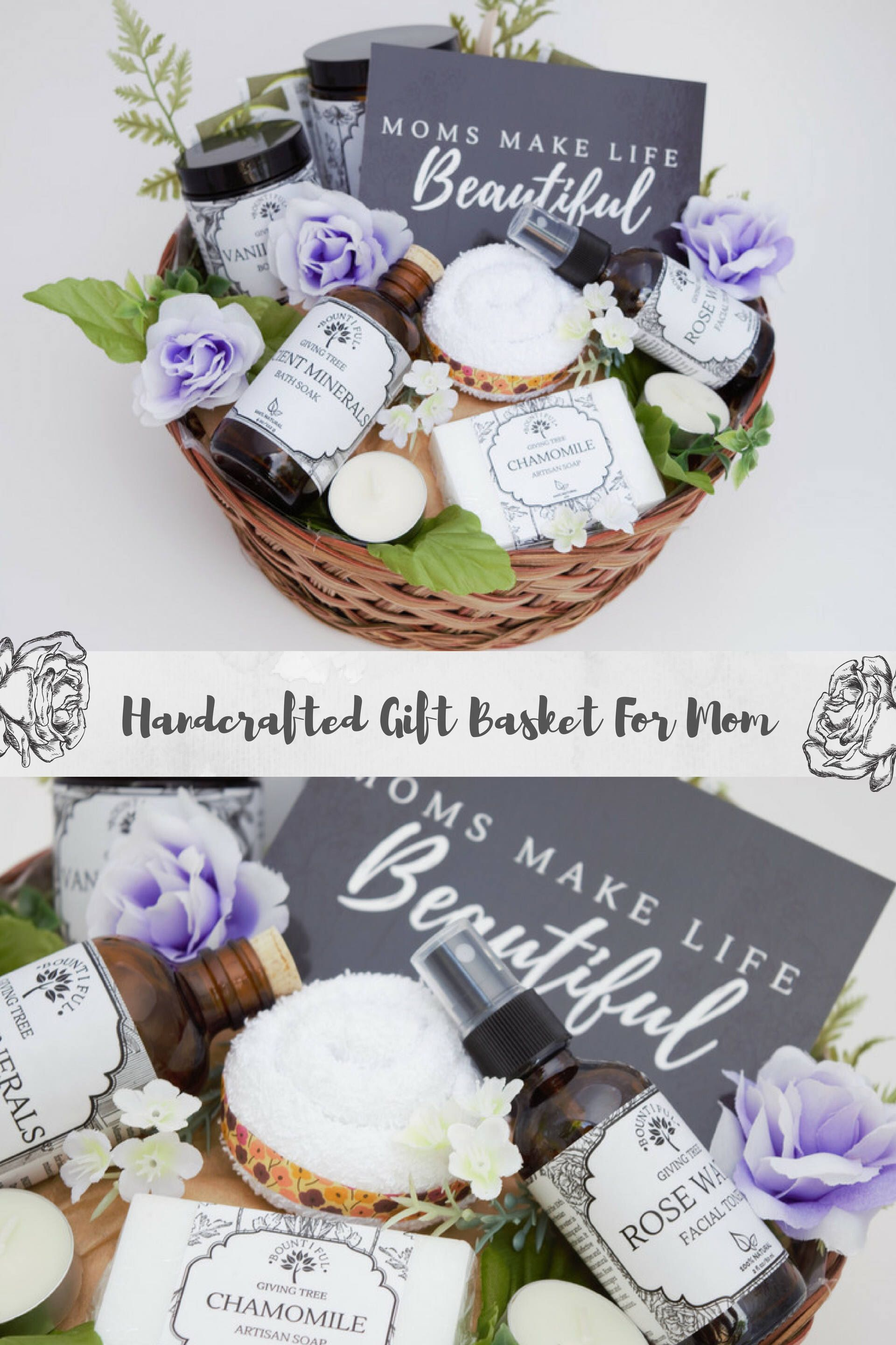 All Natural Pregnancy Gift Basket New Mom Baby Birthday Spa Organic Bring The