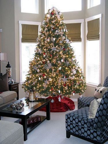 Gold And Silver Christmas Decorations Related For Tree Red