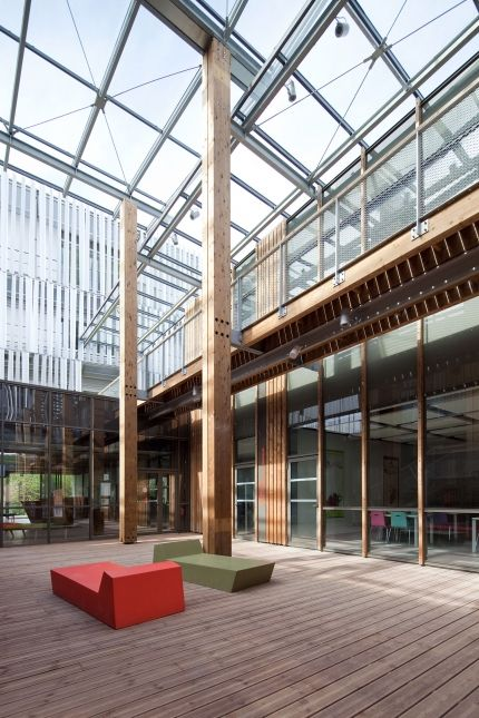 Pole Territorial De Formation Bayonne Pays Basque Et Chambre Des Metiers Patrick Arotcharen Architecte With Images Learning Environments Bayonne Learning Centers