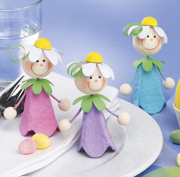 Tischdeko frühling basteln mit kindern  Pia Pedevilla … | Pinterest