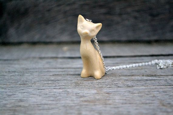 Yellow sugar cat necklace