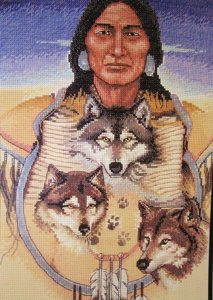 Native Wolf Trio Dimensions Needlecrafts Counted Cross Stitch