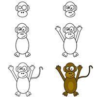 Dessiner un singe apprendre dessiner art pinterest - Singe a dessiner ...