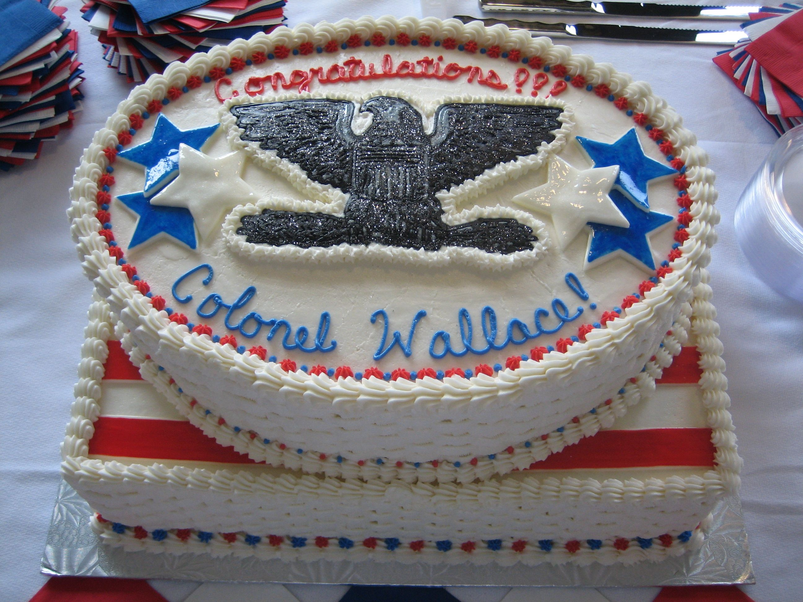 Air force promotion to colonel each tier is one layer of for Air force cakes decoration