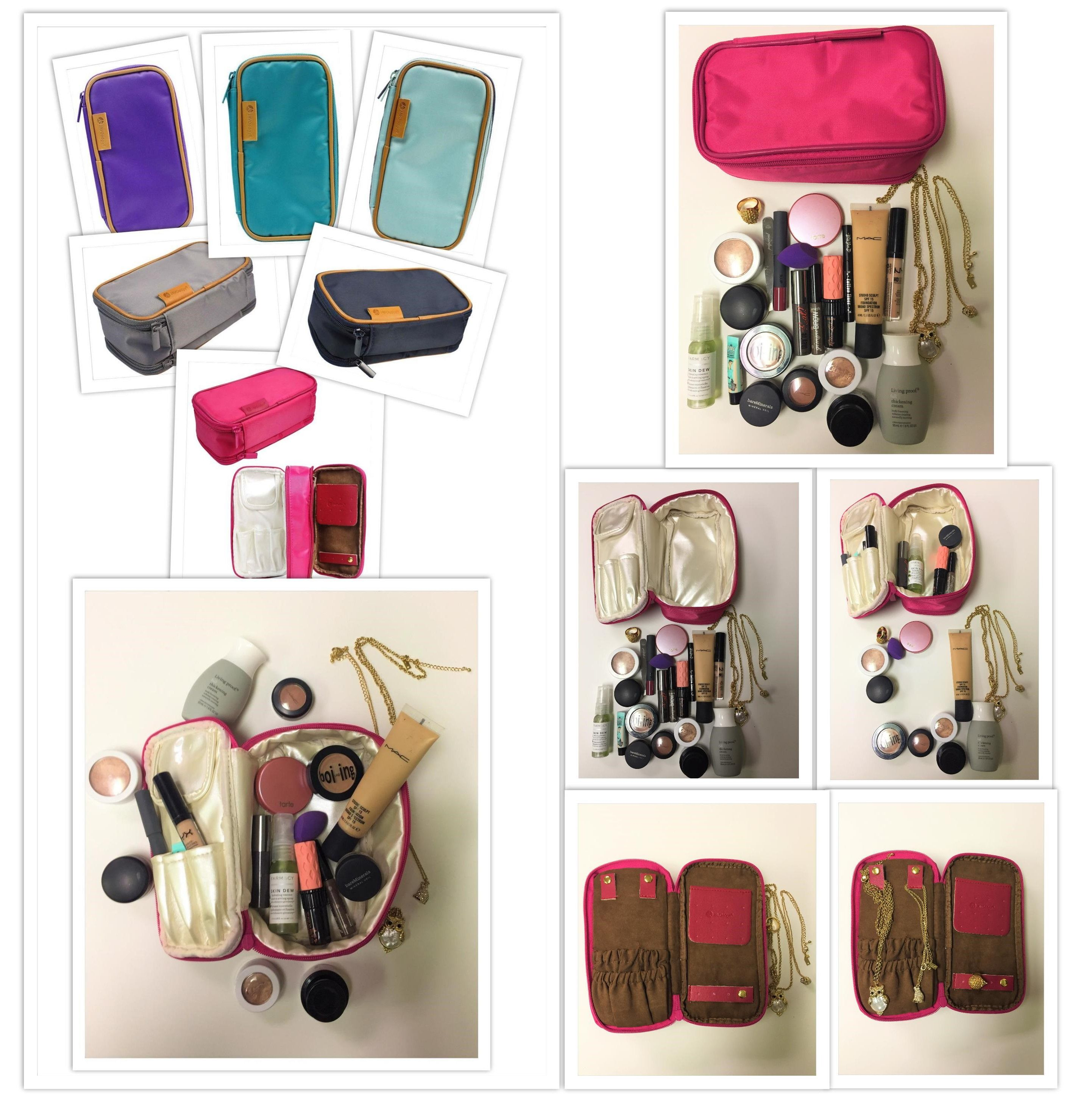 Double Sided Cosmetic And Toiletry Bag