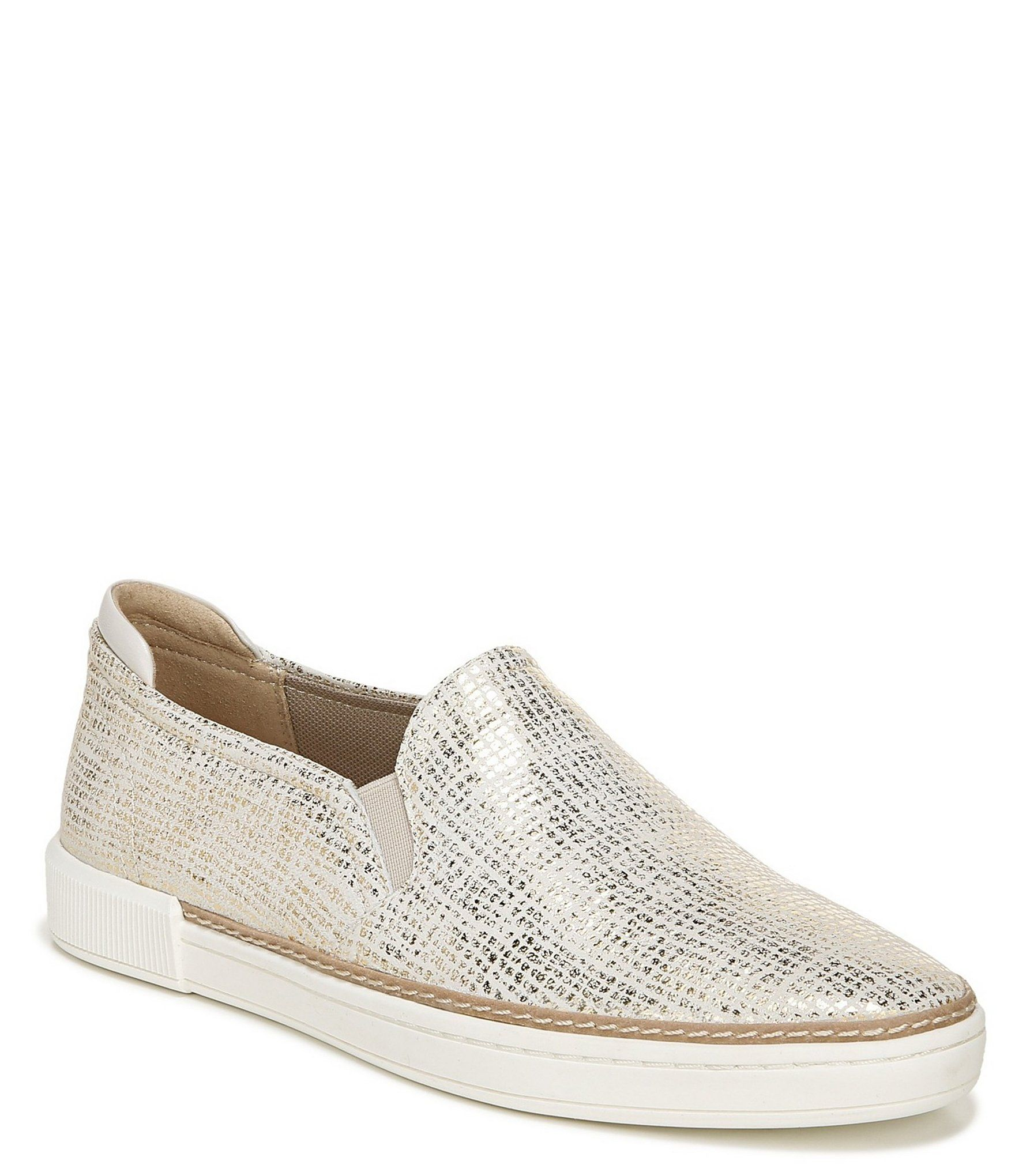 Naturalizer Jade Metallic Leather Slip On Sneakers | Dillard's
