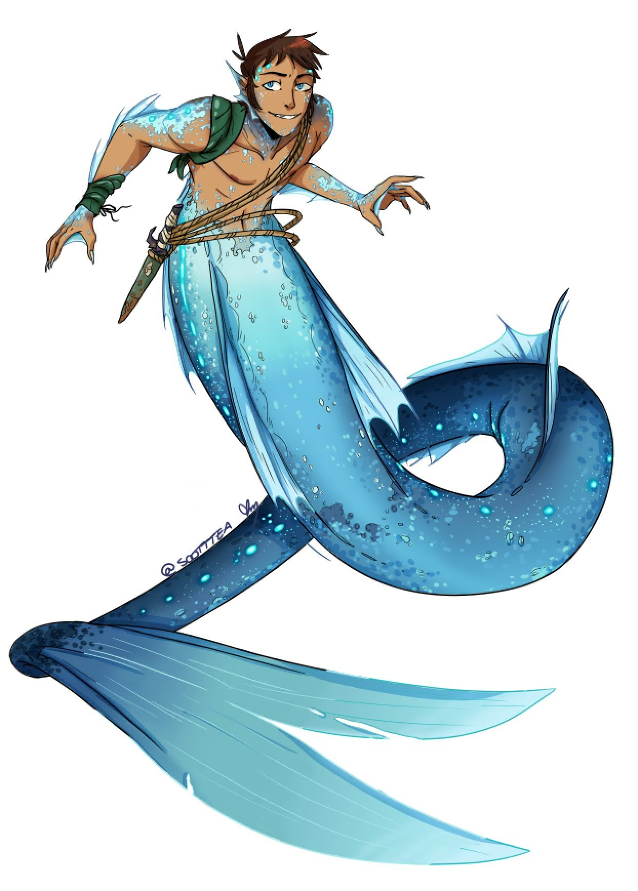 Mer Lance From The Fic Watercast By Fishwrites Art