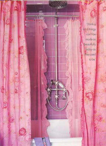 #pink ..... Betsey Johnson's apartment shower 1997