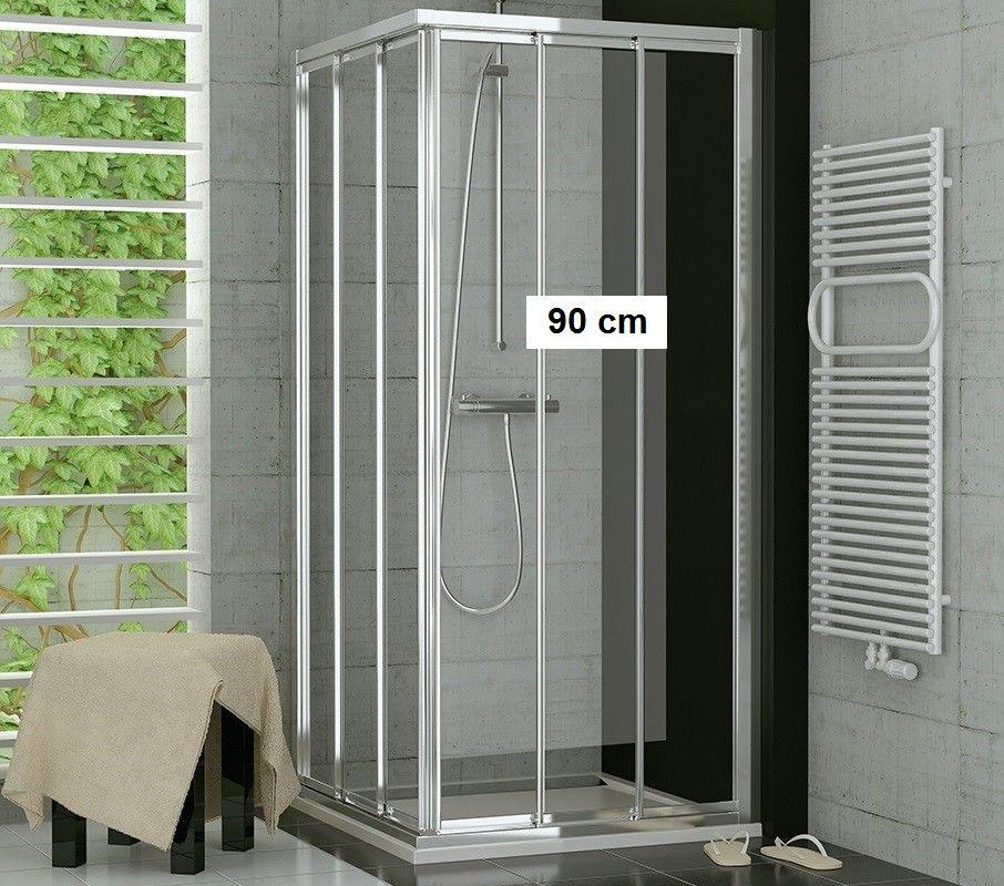 Duschabtrennung Eckeinstieg 70 x 90 x 190 cm Schiebetür