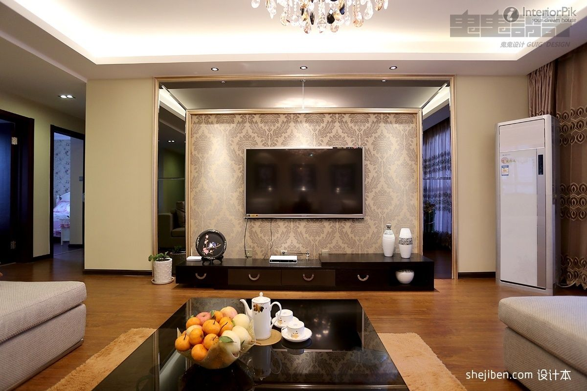 Innovative Living Room With Tv In Room Tv Background Wall ...