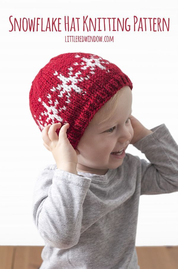 Fair Isle Snowflake Hat Knitting Pattern (littleredwindow.com ...