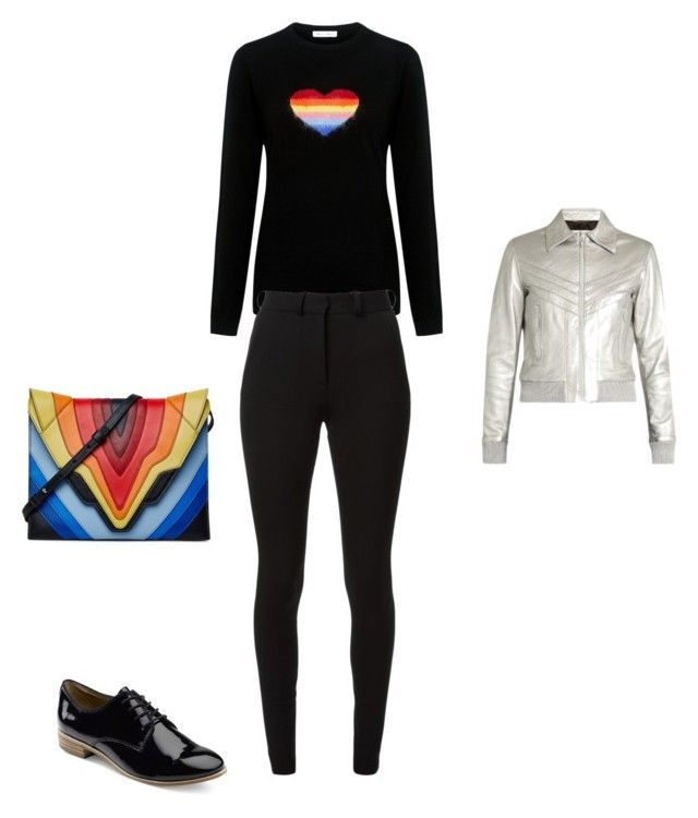 """""""Untitled #12079"""" by explorer-14576312872 ❤ liked on Polyvore featuring Bella Freud, Yves Saint Laurent, Victoria Beckham, G.H. Bass & Co. and Elena Ghisellini"""