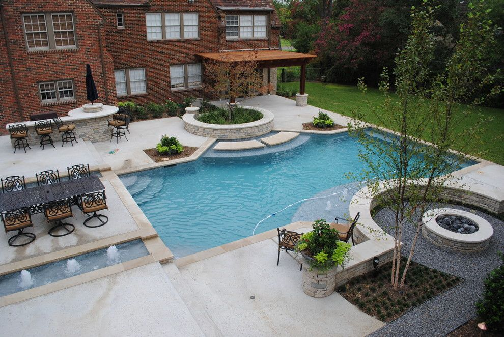 rectangle pool design traditional