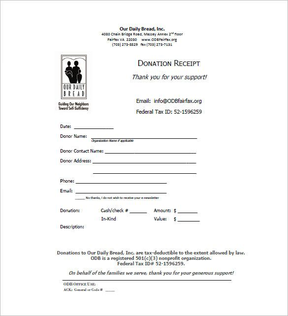 Donation Receipt , Receipt Template Doc for Word Documents in - download rent receipt format