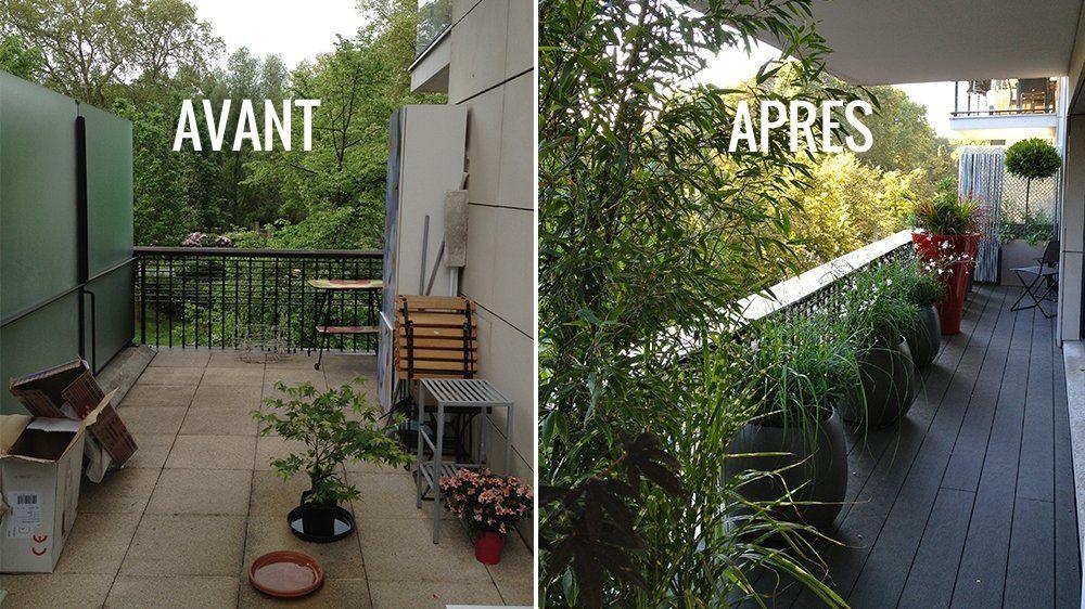 avant apr s une terrasse moderne et urbaine dans l 39 air du temps avant apr s du temps et. Black Bedroom Furniture Sets. Home Design Ideas