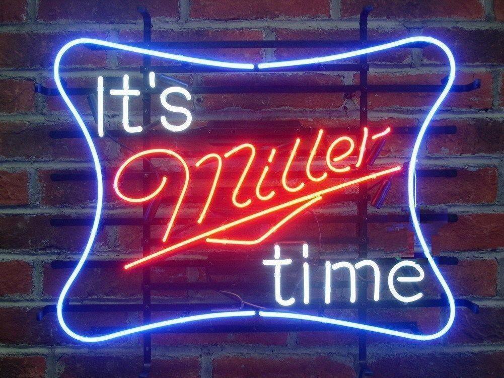It'S Miller Time Neon Sign for Sale Hanto Neon Sign Beer