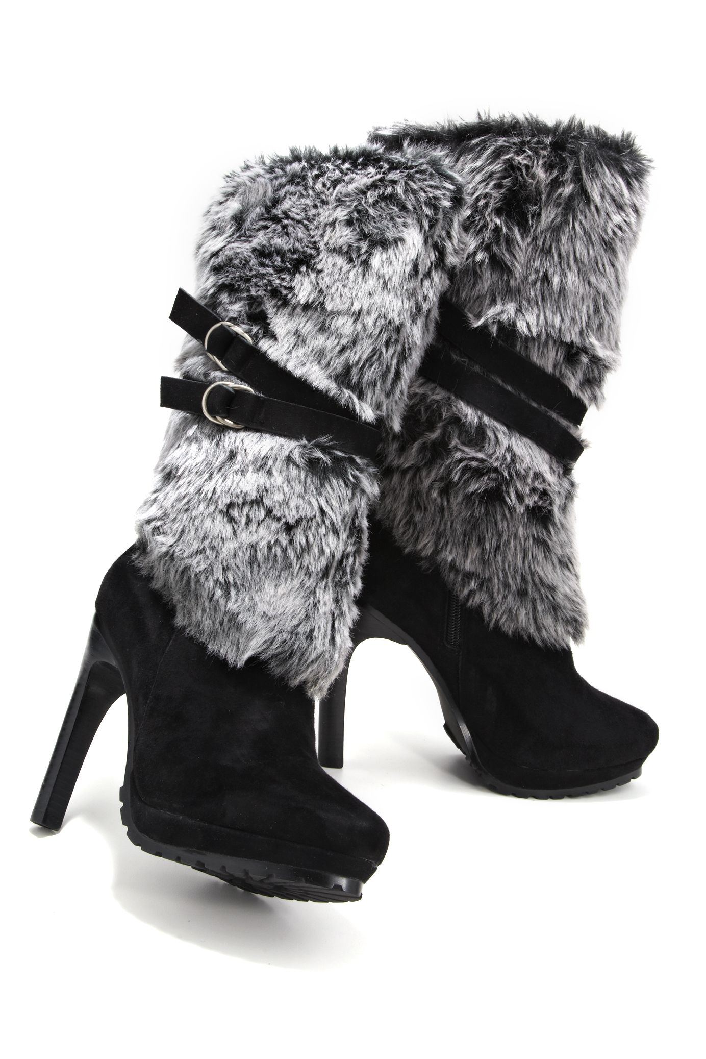 Shop the chic faux fur boot only at www.bostonproper.com ...