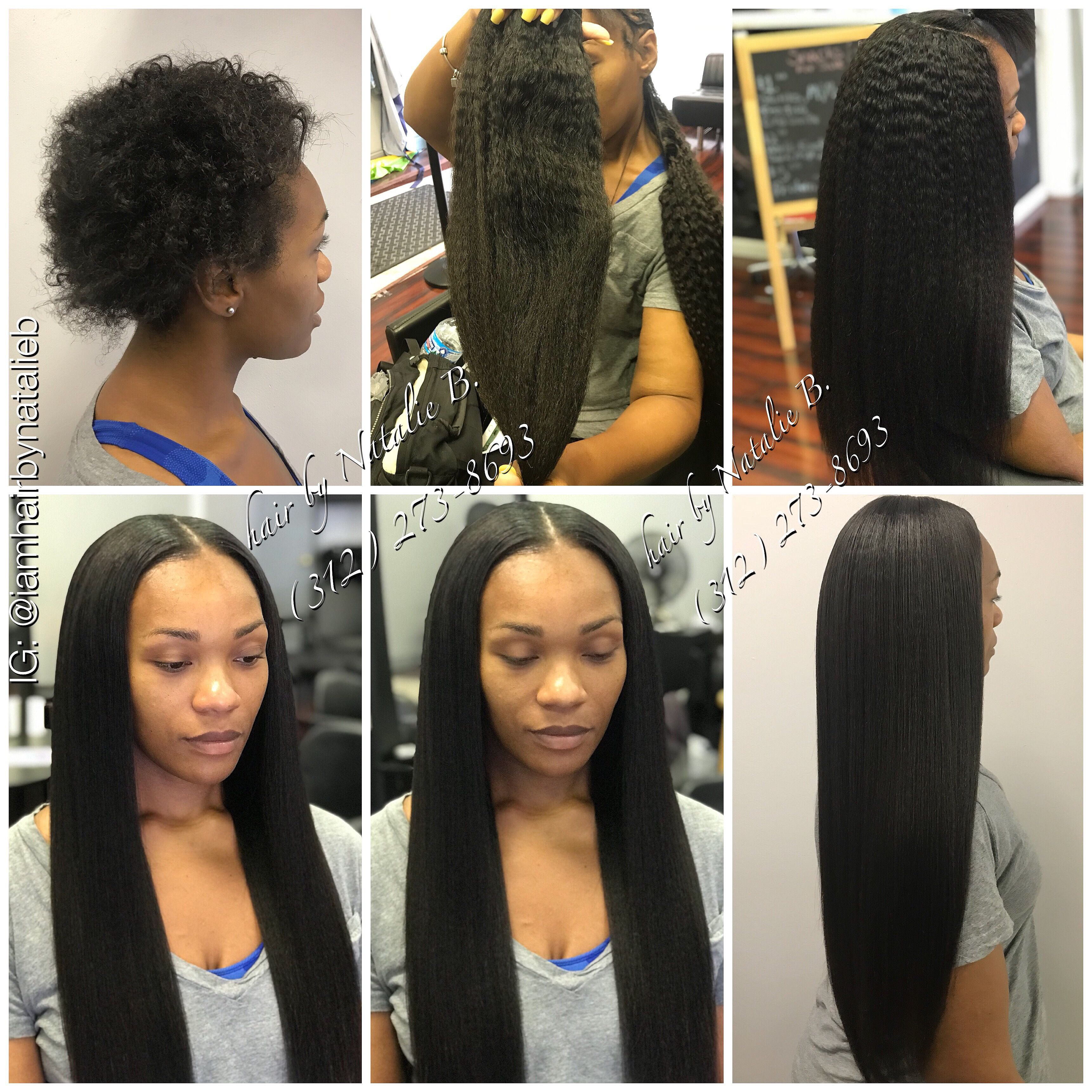 Natural Looking Traditional Sew In Hair Weaveno Humps No