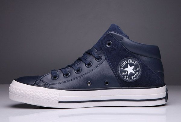 f1fde488512b5c  converse Terminator Genisys Converse Chuck Taylor Padded Collar All Star  High Blue Splice Leather Winter Sneakers