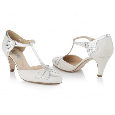 Gardenia By Rachel Simpson Ivory Leather Vintage Designer Wedding Or Occasion Shoes